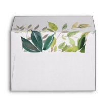 Foliage Wedding Invitation Envelope