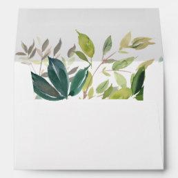 Foliage Wedding Invitation Envelope