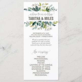 Foliage Wedding Program