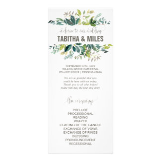 Foliage Wedding Program