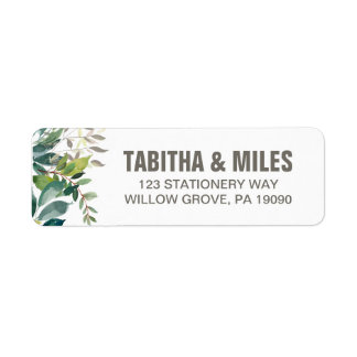 Foliage Wedding Return Address Labels