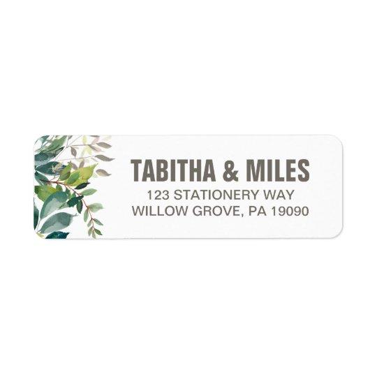 foliage wedding return address labels zazzle com