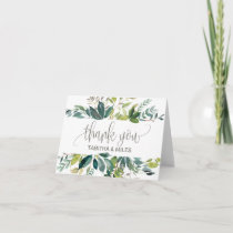 Foliage Wedding Thank You Card