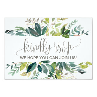Foliage Wedding Website RSVP Card