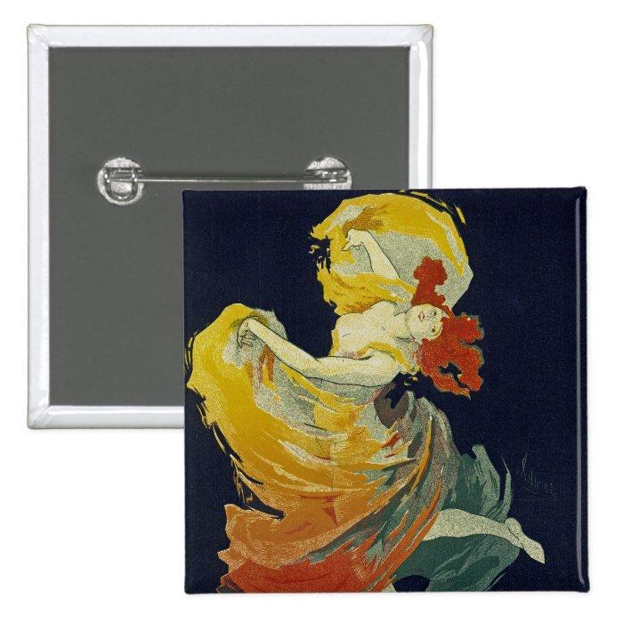 Folies Berger ~ La Loie Fuller Pinback Button