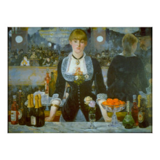 Folies-Bergere by Edouard Manet Poster