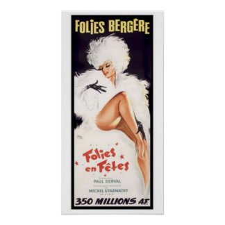 Folies-Bergere, Cabaret Dance Theater Poster