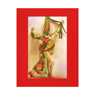 Folies Bergere Dancer Stretched Canvas Prints