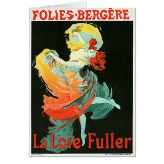 Folies-Bergère La Loie Fuller, Jules Chéret Card