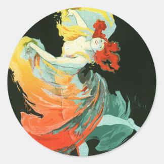 Folies-Bergère La Loie Fuller, Jules Chéret Stickers