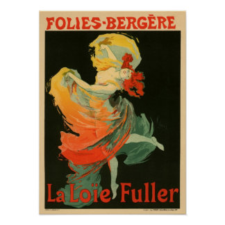 Folies Bergere La Loie Fuller Poster