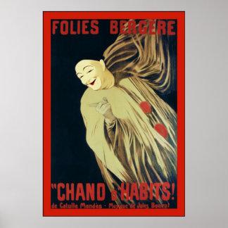 Folies Bergere ~ Vintage Advertising Poster