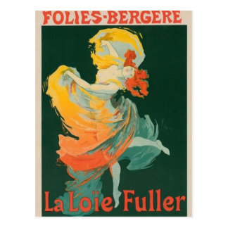 Folies-Bergere Vintage Design Postcard