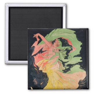 Folies Bergeres: Loie Fuller, France 2 Inch Square Magnet