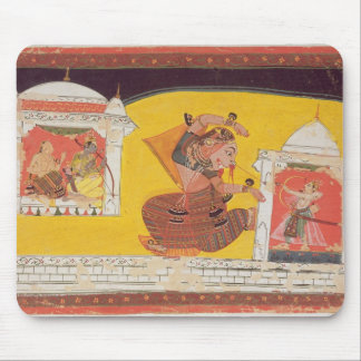 Folio 27 Laksmama cuts the nose of Surpanakha, fro Mouse Pad