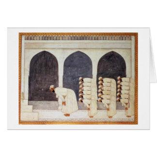 Folio.38a A Mogul prince in a mosque leading Frida Card