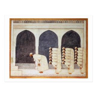 Folio.38a A Mogul prince in a mosque leading Frida Post Card