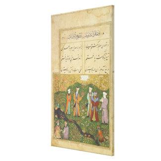 Folio 39, A garden scene, from the 'Bustan of Sa'd Canvas Print
