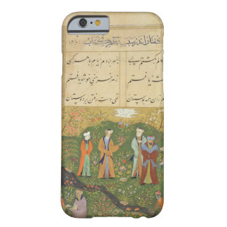Folio 39, A garden scene, from the 'Bustan of Sa'd Barely There iPhone 6 Case