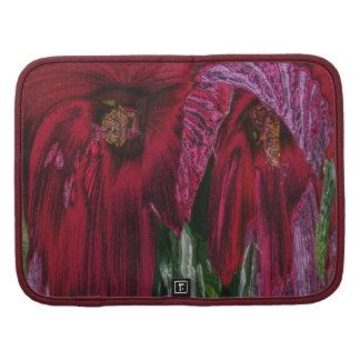 Folio abstracto del carrito del estampado de flore organizador