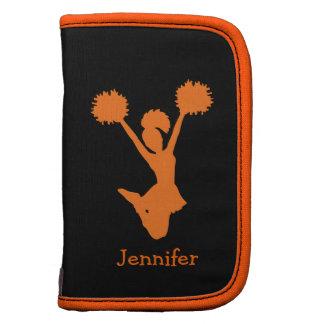 Folio anaranjado y negro de Smartphone de la anima Planificador
