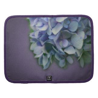 Folio azul del carrito de la flor del Hydrangea Planificador