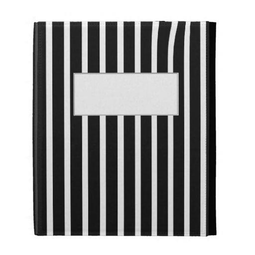 Folio blanco y negro del ipad del escudo de las ra