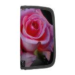 Folio color de rosa rosado del smartphone