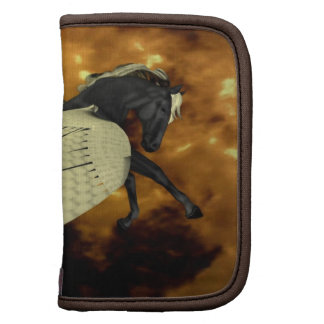 Folio con alas de oro de la cartera de Pegaso Organizador