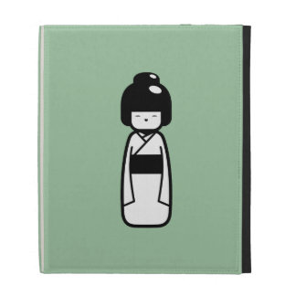 Folio de Caseable del iPad del pictograma de la mu