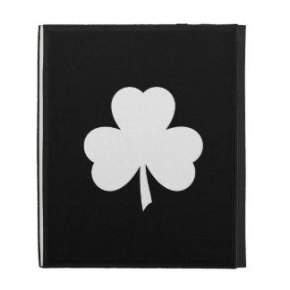 Folio de Caseable del iPad del pictograma del tréb