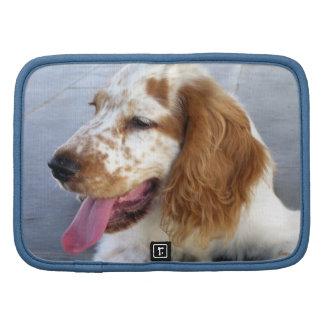 Folio de la cartera del perrito del perro de aguas organizador