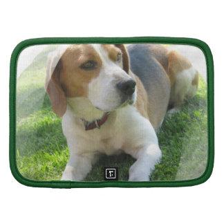 Folio de la cartera del perro de caza del beagle planificadores