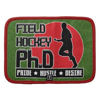 Folio de PH d Notebook Cover del hockey hierba Organizador