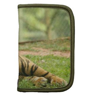 Folio de reclinación de la cartera del tigre planificador