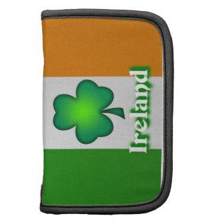 Folio del carrito de la bandera de Irlanda Planificador