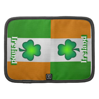 Folio del carrito de la bandera de Irlanda Planificadores