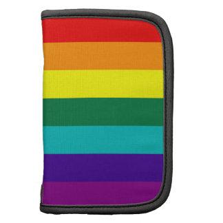 Folio del carrito de la bandera del orgullo gay de organizadores