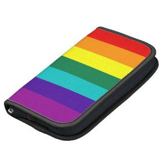Folio del carrito de la bandera del orgullo gay planificador