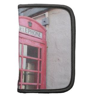 Folio del carrito de la cabina de teléfono planificadores