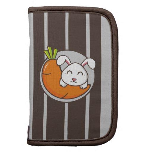 Folio del carrito de la zanahoria del conejo planificadores