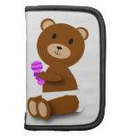 Folio del carrito del oso del bebé planificadores