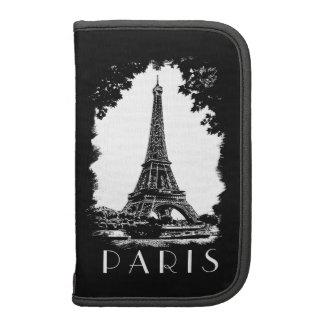Folio del ejemplo de la torre Eiffel del vintage d Organizador