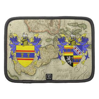 Folio del escudo de la familia del escudo de armas planificadores