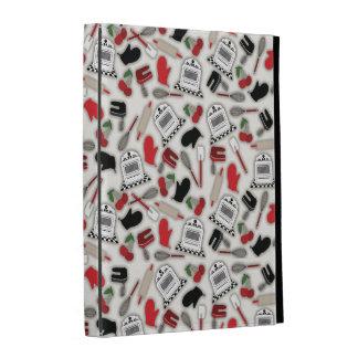 Folio del iPad de la cocina del encanto del vintag