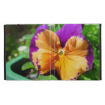 Folio del iPad de la flor del comodín