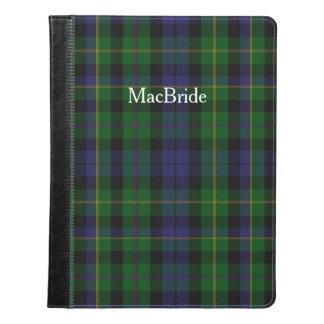Folio del iPad de la tela escocesa de tartán de