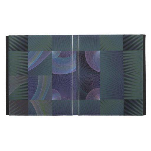 Folio del iPad del fractal del remiendo del verde