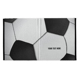 Folio del iPad del fútbol del fútbol de Personaliz