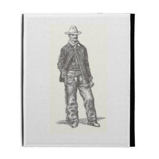 Folio del iPad del vaquero